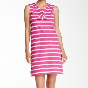 Kate Spade tropes dress pink and white size S